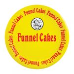 "Funnel Cake Plate Laminated 9"" 1000ct"